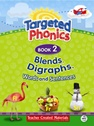 Targeted Phonics Book 2: Blends, Diagraphs, Words and Sentences (with MP3)
